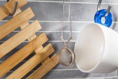 Εργαλεία τσαγιού κουζινών Στοκ Φωτογραφίες