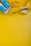 εργαλεία χρωμάτων ανασκόπησης copyspace κίτρινα Στοκ φωτογραφία με δικαίωμα ελεύθερης χρήσης