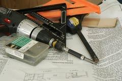 εργαλεία instrucions εγκαταστάσ&e Στοκ εικόνα με δικαίωμα ελεύθερης χρήσης