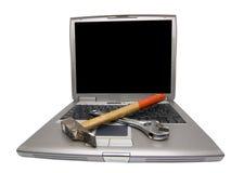 εργαλεία lap-top στοκ φωτογραφία