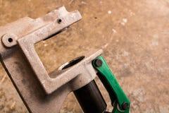 Εργαλείο κατασκευής στήριγμα-διατρήσεων στοκ φωτογραφία