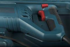 Εργαλείο με κόκκινο στενό επάνω κουμπιών Στοκ Εικόνες