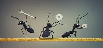 εργασία έννοιας, ομάδα των μυρμηγκιών ελεύθερη απεικόνιση δικαιώματος