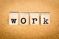 Εργασία - έννοιες γραμματοσήμων αλφάβητου Στοκ Εικόνα