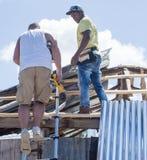 Εργασία ανακούφισης του Matthew τυφώνα Στοκ φωτογραφία με δικαίωμα ελεύθερης χρήσης