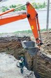 Εργασία ανασκαφής Στοκ φωτογραφία με δικαίωμα ελεύθερης χρήσης