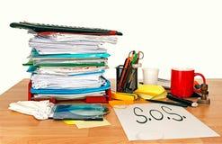 Εργασία απασχόλησης SOS, πρόβλημα Έννοια στοκ εικόνες