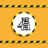 Εργασία για μια διπλώνοντας σκάλα διάνυσμα εικονιδίων εργαλείων Στοκ φωτογραφία με δικαίωμα ελεύθερης χρήσης