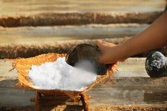 Εργασία για την αλατισμένη παραγωγή - παραδοσιακή μέθοδος Μπαλί, Indonesi Στοκ εικόνες με δικαίωμα ελεύθερης χρήσης