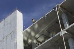 Εργασία για την κατασκευή ενός εμπορικού κέντρου σε Kharkiv Στοκ Εικόνα