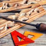 Εργασία για το ξύλο στοκ εικόνες