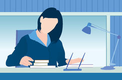 εργασία γραφείων ελεύθερη απεικόνιση δικαιώματος