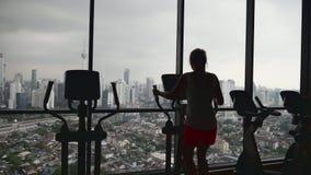 εργασία γυναικών γυμνασ&t απόθεμα βίντεο