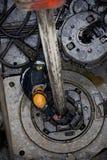 εργασία εγκαταστάσεων γεώτρησης αερίου πεδίων διάτρυσης Στοκ φωτογραφία με δικαίωμα ελεύθερης χρήσης