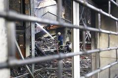 εργασία εθελοντών πυροσβεστών Στοκ Φωτογραφίες
