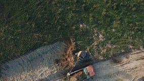 Εργασία εκσκαφέων από το ύψος απόθεμα βίντεο