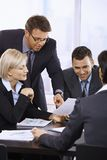 Εργασία επιχειρηματιών στην αρχή Στοκ Εικόνες