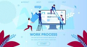 Εργασία επιχειρησιακής ομάδας μαζί, τεράστιο όργανο ελέγχου υπολογιστών ελεύθερη απεικόνιση δικαιώματος