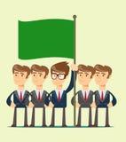 Εργασία επιχειρησιακών ομάδων και εικονίδιο έννοιας ηγεσίας ελεύθερη απεικόνιση δικαιώματος