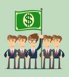 Εργασία επιχειρησιακών ομάδων και εικονίδιο έννοιας ηγεσίας διανυσματική απεικόνιση