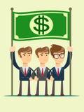 Εργασία επιχειρησιακών ομάδων και εικονίδιο έννοιας ηγεσίας απεικόνιση αποθεμάτων