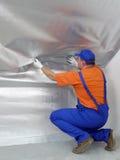 Εργασία θερμικής μόνωσης Στοκ εικόνες με δικαίωμα ελεύθερης χρήσης