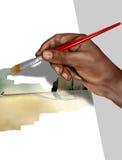 εργασία καλλιτεχνών διανυσματική απεικόνιση
