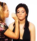 εργασία καλλιτεχνών makeup Στοκ Εικόνα