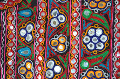 Εργασία κεντητικής Kutchi στοκ εικόνες