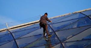 Εργασία μεγάλου υψομέτρου για έναν ουρανοξύστη Στοκ εικόνες με δικαίωμα ελεύθερης χρήσης