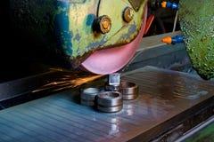εργασία μετάλλων μηχανημά&tau Στοκ Εικόνα