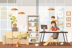 εργασία μητέρων επίσης corel σύρετε το διάνυσμα απεικόνισης ελεύθερη απεικόνιση δικαιώματος