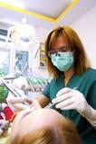 Εργασία οδοντιάτρων Στοκ φωτογραφία με δικαίωμα ελεύθερης χρήσης