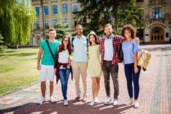 Εργασία ομάδας και πολυ πολιτιστική έννοια φιλίας Έξι επιτυχή στοκ φωτογραφία
