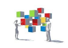 εργασία ομάδων έννοιας Στοκ Εικόνες
