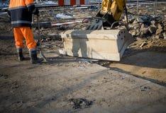 εργασία περιοχών ατόμων κ&alpha Στοκ Εικόνα