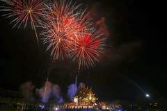 Εργασία πυρκαγιάς στο βασιλικό πάρκο στο νέο φεστιβάλ 2018 έτους Στοκ εικόνες με δικαίωμα ελεύθερης χρήσης