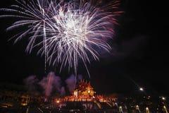 Εργασία πυρκαγιάς στο βασιλικό πάρκο στο νέο φεστιβάλ 2018 έτους Στοκ φωτογραφία με δικαίωμα ελεύθερης χρήσης