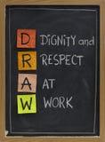 εργασία σεβασμού αξιοπρ Στοκ Εικόνες
