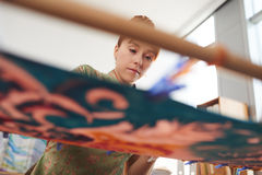 Εργασία στη ζωγραφική Στοκ φωτογραφία με δικαίωμα ελεύθερης χρήσης
