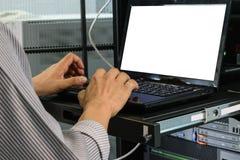 Εργασία στον υπολογιστή Στοκ Εικόνες