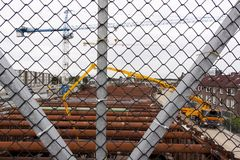 Εργασία στο βασιλιά Willem-Alexandertunnel στο Μάαστριχτ Στοκ εικόνες με δικαίωμα ελεύθερης χρήσης