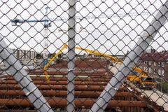Εργασία στο βασιλιά Willem-Alexandertunnel στο Μάαστριχτ Στοκ Εικόνες