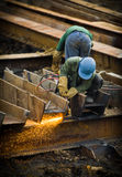 Εργασία στο εργοτάξιο οικοδομής Στοκ Εικόνες