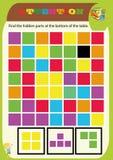 Εργασία συμβόλων παιδικών σταθμών o Sudoku για τα παιδιά με τους ζωηρόχρωμους γεωμετρικούς αριθμούς r στοκ φωτογραφίες με δικαίωμα ελεύθερης χρήσης