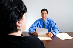 εργασία συνέντευξης στοκ φωτογραφία με δικαίωμα ελεύθερης χρήσης
