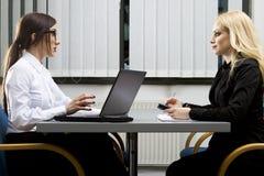 εργασία συνέντευξης Στοκ εικόνα με δικαίωμα ελεύθερης χρήσης