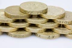 εργασία σωρών νομισμάτων τ&omi στοκ φωτογραφίες