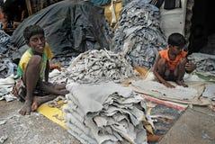 εργασία της Ινδίας παιδιώ&n Στοκ Φωτογραφία