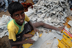 εργασία της Ινδίας παιδιώ&n Στοκ Εικόνα